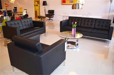 Design Bank Fauteuil.Florence 1 2 3 Zit Bank Fauteuil Leer Design Sofa Kopen Bankstellen