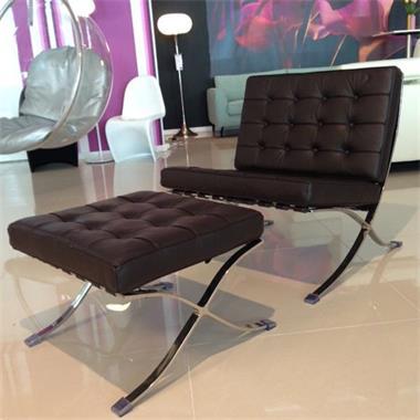 Barcelona Stoel Zwart Leer.Barcelona Stoel Runder Leder Chair Leer Design