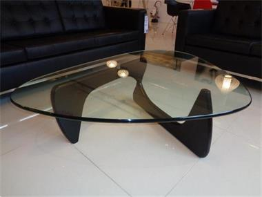 Grote Glazen Salon Tafel.Salontafel Noguchi Design Glas Hout Tafel