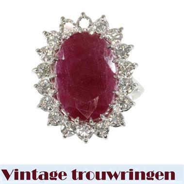 Vintage Trouwringen Met Prachtig Robijn Kopen Ringen Voor