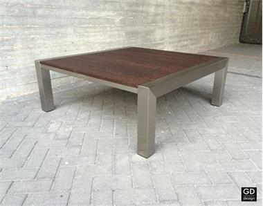 Prachtige Salon Tafel.Prachtige Salontafel Rvs Design Met Massief Wenge Kopen